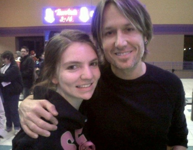 keith urban in a movie theater