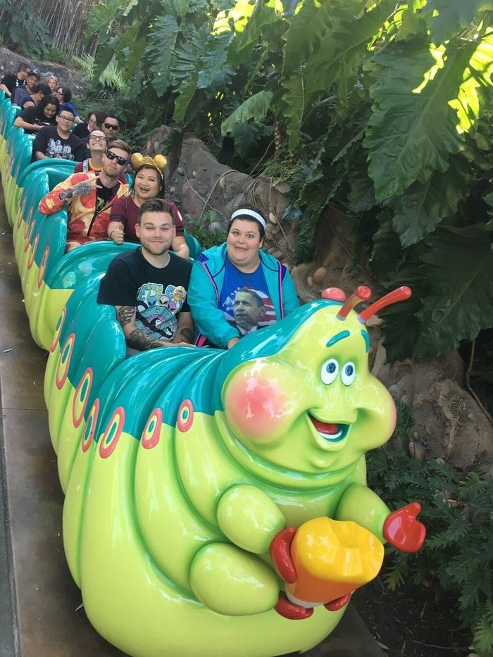 """""""It's one of my favorite rides because it's so slow and he talks in a funny German accent,"""" Christine said, laughing."""