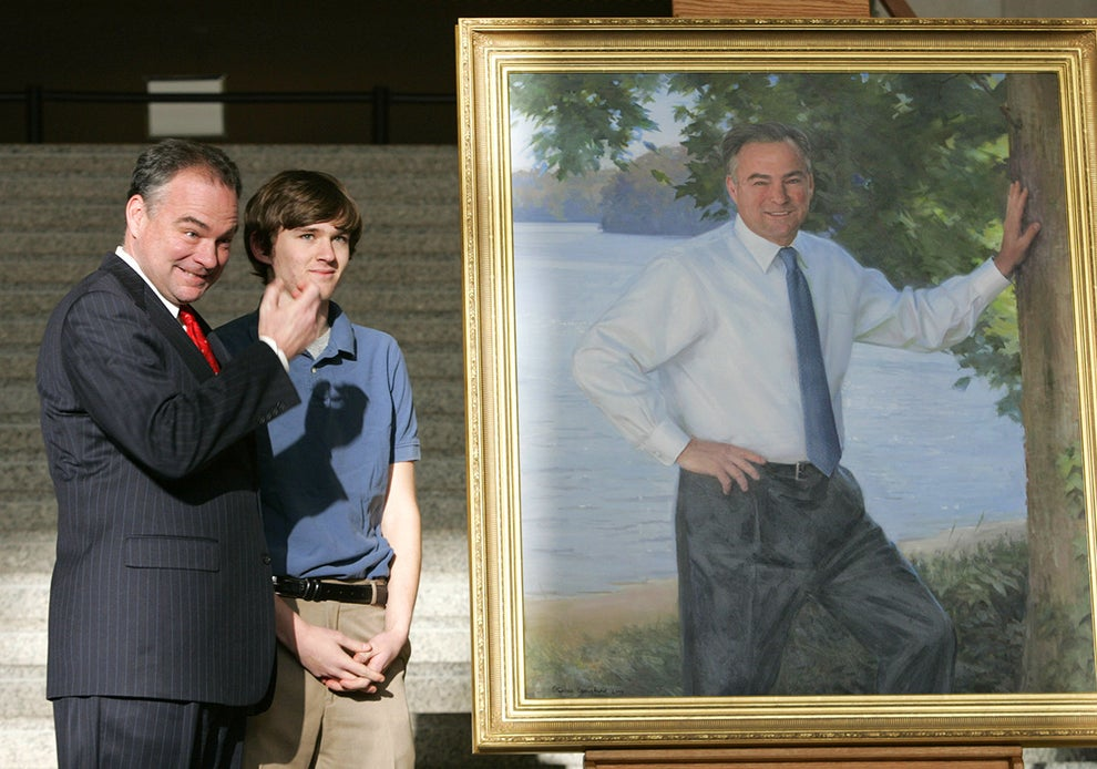 Have you ever seen a happier man unveil a painting of himself?