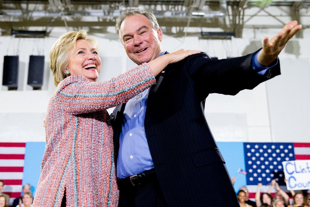 It's possible that Tim Kaine could be the most dad VP in American history.