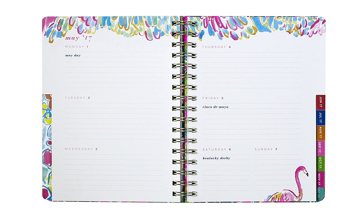 give some serious planner style with the funky pink and gold jumbo agenda from lily pulitzer