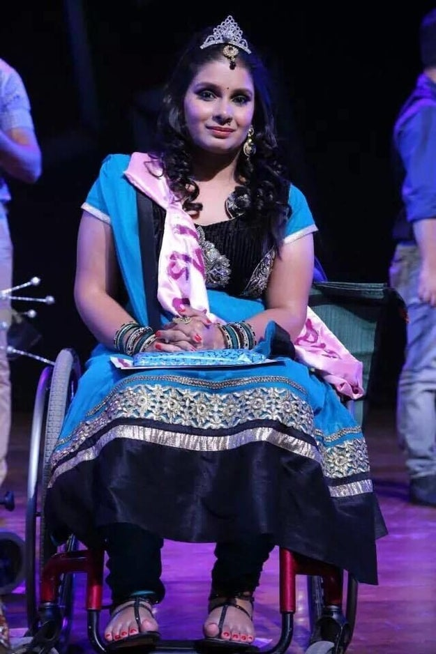 In 2014, she even won second place in The Miss Wheelchair India pageant.