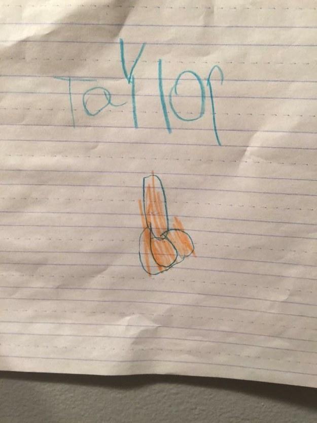 Taylor's toilet.