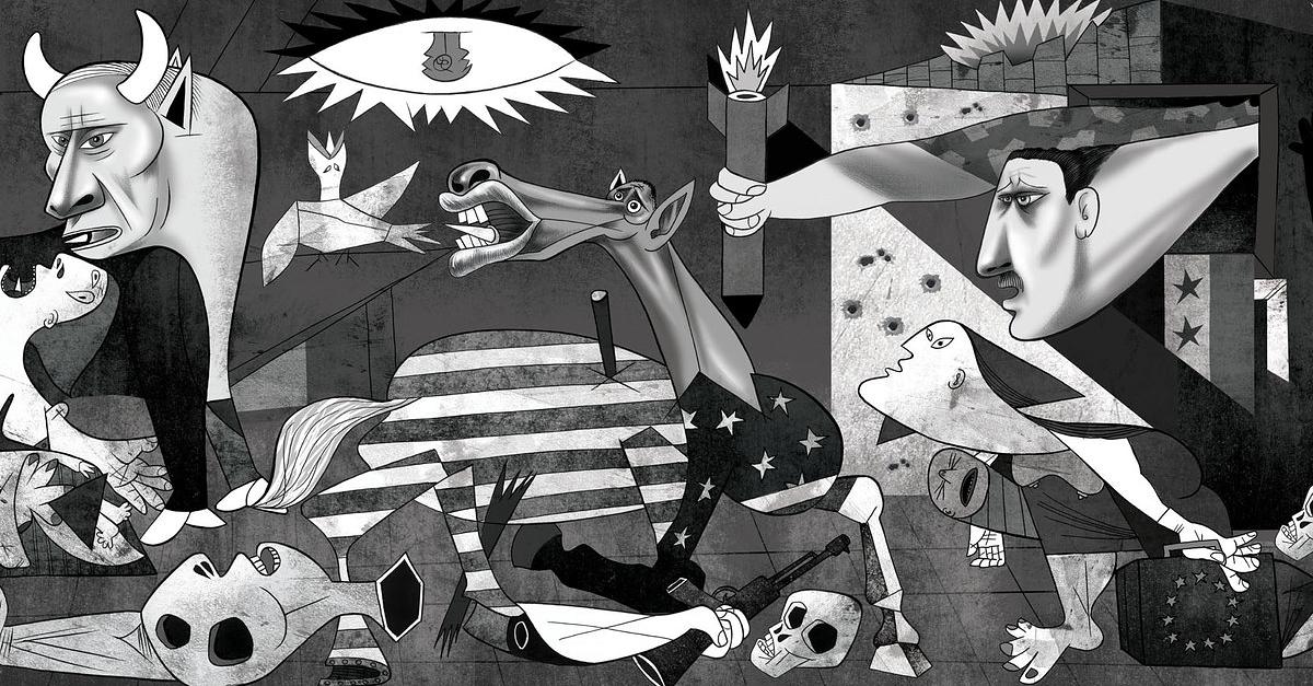 Un dessinateur a repris «Guernica» pour illustrer la guerre en Syrie