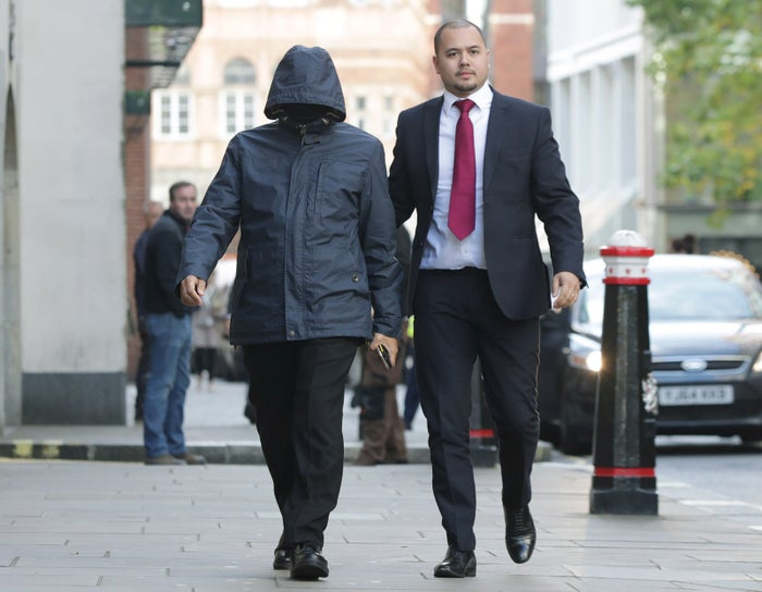 Undercover journalist Mazher Mahmood (left), arriving at the Old Bailey in London during his trial in October