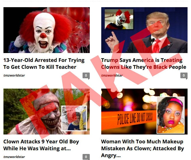 It all started with reports in late August of two clowns allegedly trying to lure a young boy in Greenville, South Carolina, to a house in the woods. Although that incident appears to have been genuine, it touched off a wave of creepy clown sightings across North America, many of which later turned out to be made up.It's all had serious real-world consequences. These real and fabricated clown crimes have led to traffic accidents, multiple arrests, school lockdowns, and perhaps even one death.