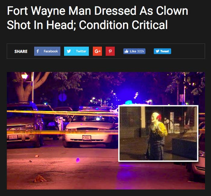 """The Daily Finesser, a website that describes its work as satire, was only registered in mid-September. The story above, about a man dressed as a clown getting shot, has been shared almost 300,000 times on Facebook.The Daily Finesser is part of Huzler, a network of hoax news sites that spent much of the summer promoting bogus stories about Pokémon Go, including tales of death, murder, and dismemberment as a result of the mobile game. The owner of Huzler, Pablo Reyes, told BuzzFeed News the Daily Finesser is """"one of many sites I have where I write hoax articles at the right time and they seem to go viral.""""Reyes and a friend write all the articles, he added. Unlike many of his competitors, though, Reyes discloses that it's all fake.""""We make it really obvious,"""" he said. """"At the bottom there's a disclaimer. We say it's for entertainment purposes only."""""""