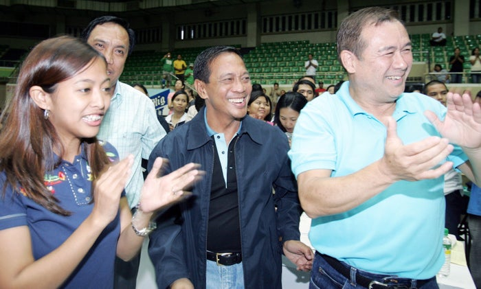 Locsin, a former journalist and congressman, was named to the spot on Sept. 18. He's pictured here on the right. His appointment was met in the Philippines with...some surprise.