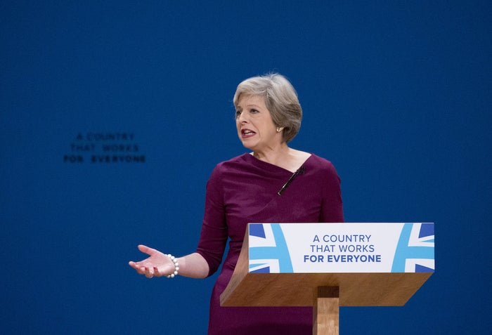 Prime minister Theresa May delivers her main speech to delegates in the final day of the Conservative party conference on Wednesday.