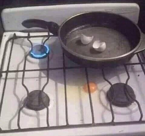 """""""Nada é mais fácil do que fritar um ovo""""."""