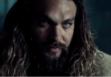 There's a lot to break down here, like Jason Momoa in full Aquaman character: