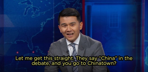 "Then, on Thursday night, Daily Show correspondent Ronny Chieng clapped back at Fox News's ""idiocy"" — and he did not hold back."