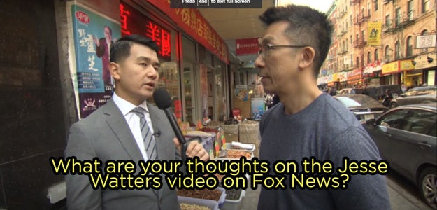 Then he took to the streets himself to find out what Chinatown's community actually thinks about the election, and what they thought about Watters' segment.