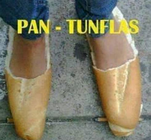 Lo gracioso aquí es que alguien compró pan para esta foto.