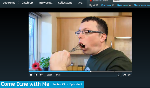 It's perfectly possible to watch Come Dine With Me for three and a half hours straight.