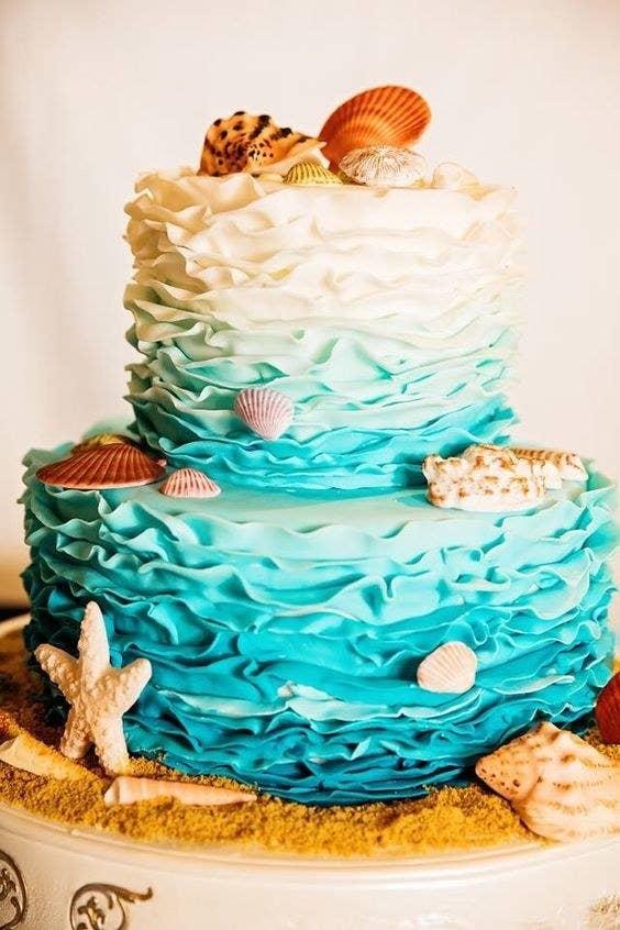 This Waves And Seashells Cake