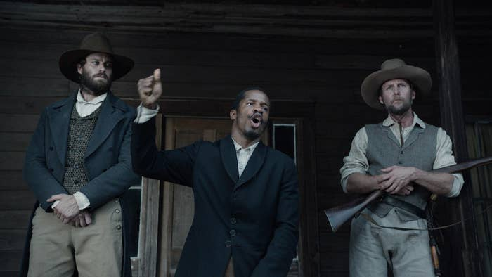 Armie Hammer, Nate Parker, and Jayson Warner Smith in The Birth of a Nation.