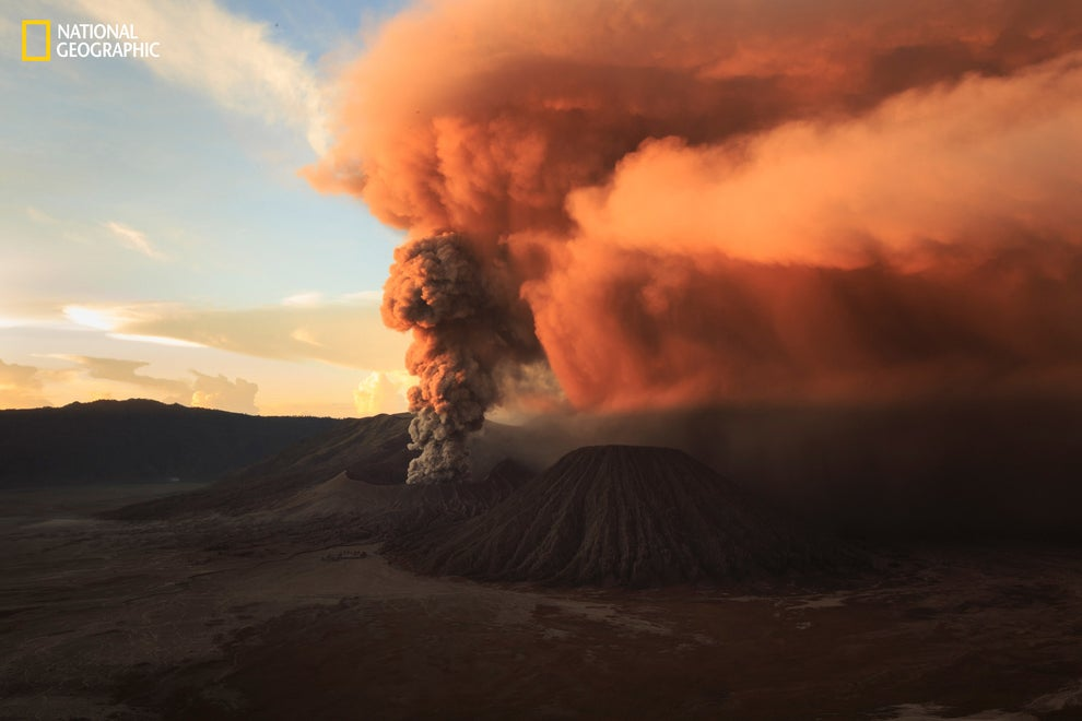 A haunting sunrise at Mount Bromo.