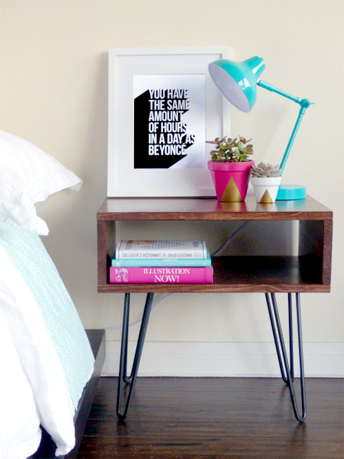Wipe down the table next to your bed at least once a week.