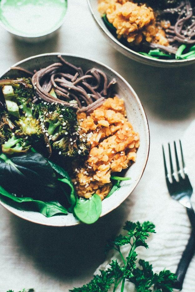 Tamari Broccoli Buddha Bowl