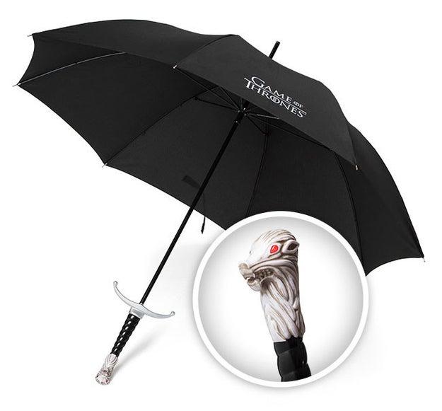 Egy esernyő fogantyúval, hogy néz ki, mint Longclaw markolatára.