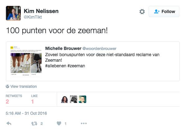 Zeeman Halloween.Dutch People Are Praising An Advert For Tights That Includes