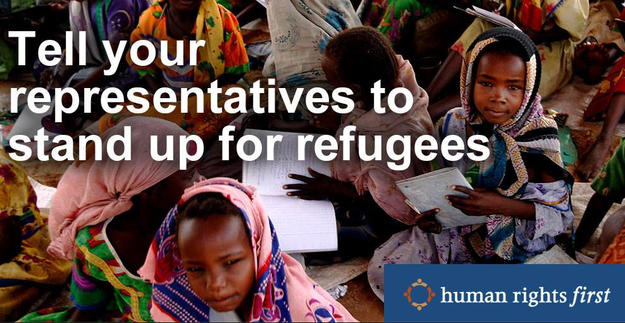 If you're concerned about human rights and refugees, consider supporting Human Rights First.