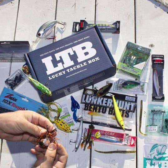 1. A subscription to Lucky Tackle Box for monthly deliveries of baits and lures.