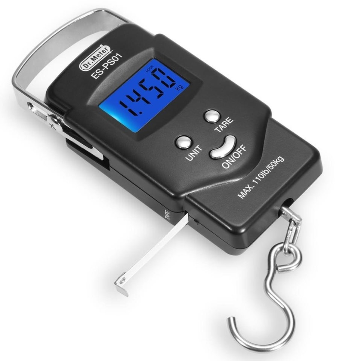 2. This digital LCD display hanging hook scale for weighing and measuring your catch.