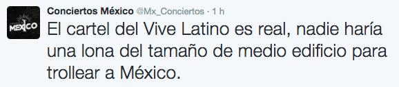 O, como dijo Conciertos México...