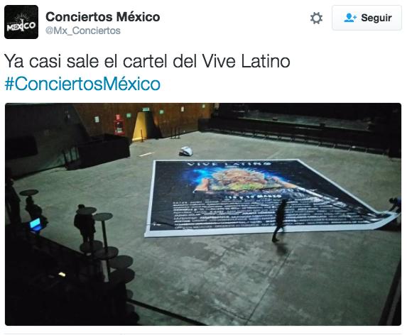Por la mañana, Conciertos México publicó este tuit: