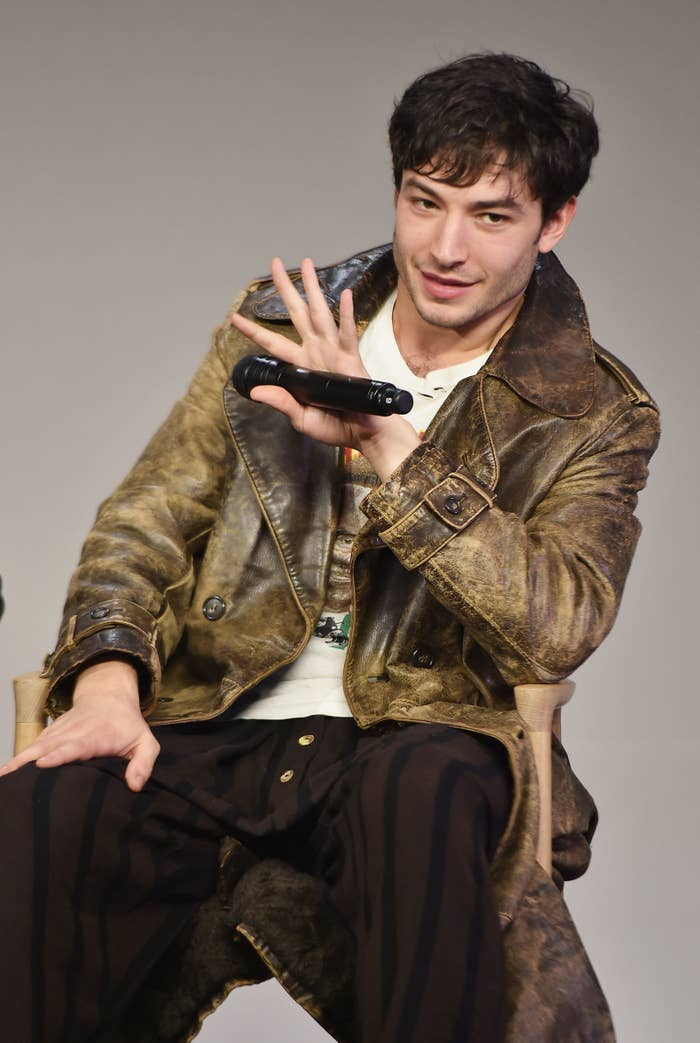 Ezra Miller attends the Apple Store Soho presentation of Fantastic Beasts and Where To Find Them on Nov. 10 in New York City.