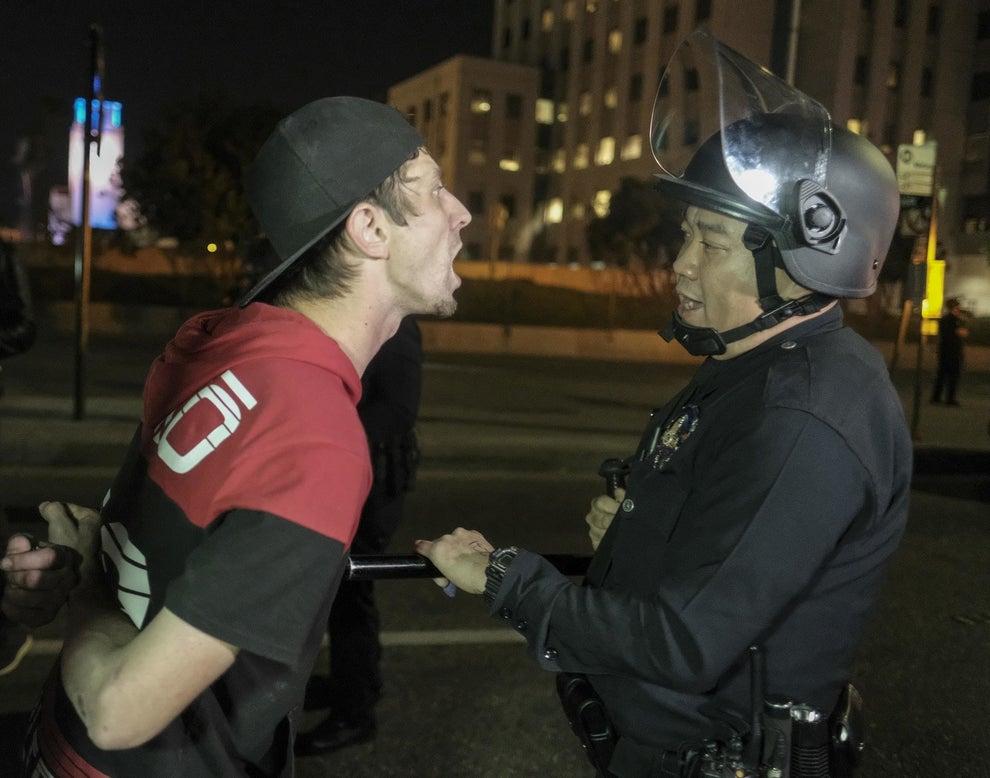 Confrontaciones entre manifestantes y policía.