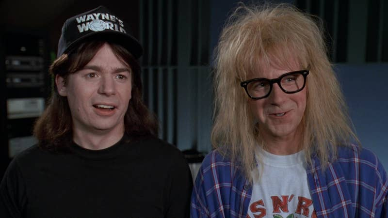 """""""Between Dana Carvey's sweet, silly portrayal of Garth, and Mike Myers' classic '90s representation of a true dude, I can really fall into a gleeful hypnosis. If you're gonna spew, spew into this.""""—Meghan Martinez, Facebook"""