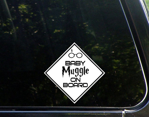 A decal that belongs on any car (except a flying Ford Anglia).