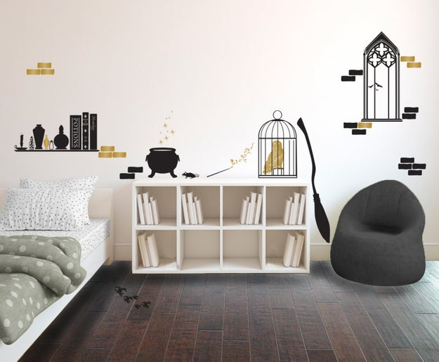 A collection of decals that transfigure any nursery into Hogwarts itself.