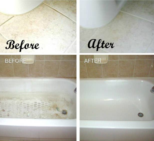 Show your bathroom some love with baking soda, vinegar, and soap.