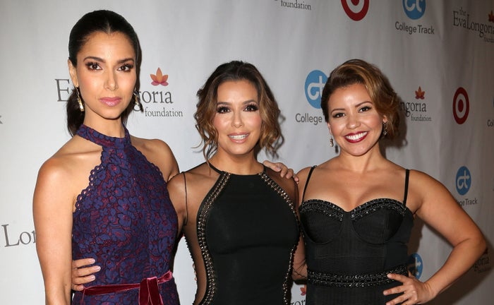 Roselyn Sanchez, Eva Longoria, and Justina Machado at the Eva Longoria Foundation dinner on Nov. 10.