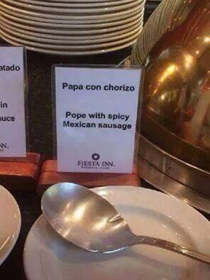 ¿El Santo Papa qué culpa?