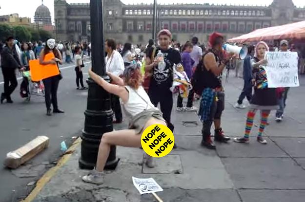Pooping in public