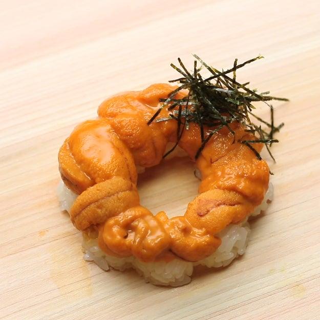 Sea Urchin Gunkan Sushi Doughnut