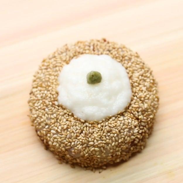 Tuna Yamakake Sushi Doughnut