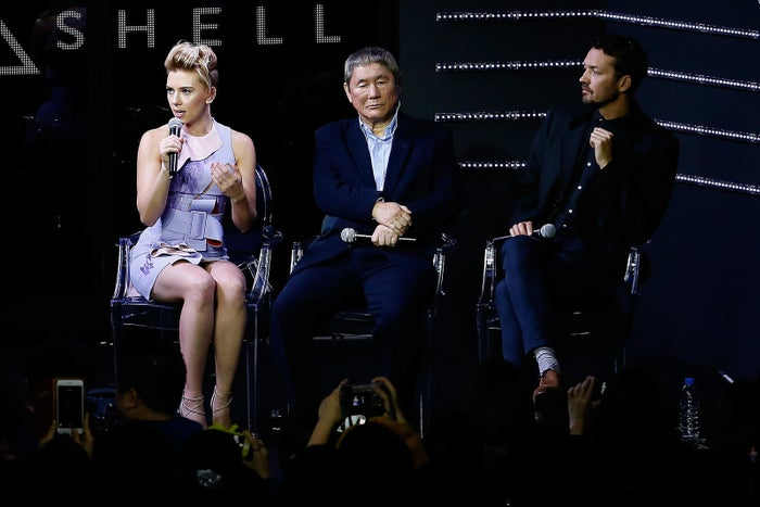 """At a trailer launch event for the film in Tokyo, Sanders defended Johansson's casting during a Q&A panel.""""I stand by my decision. She's the best actress of her generation,"""" he told reporters and attendees. """"I was flattered and honored that she would be in this film, and I think so many people who are around the original anime have been vehemently in support of her because she is incredible and there are very few like her."""" Sanders also said, according to ETOnline, that Mamoru Oshii, the director of the 1995 animated film of Ghost in the Shell, is among those who approve of Johansson's casting.Kodansha — the publisher behind the original manga series — has also endorsed Johansson's part in the film. """"Looking at her career so far, I think Scarlett Johansson is well cast,"""" Sam Yoshiba, director of the international business division at Kodansha, told The Hollywood Reporter in April."""