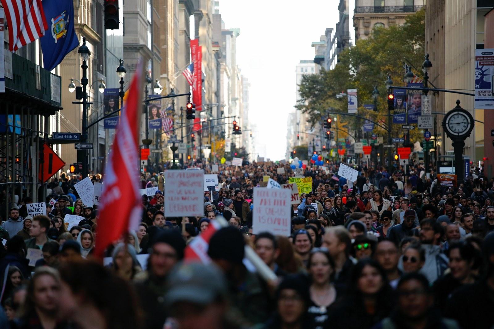 Inside The Anti-Trump Protest Movement