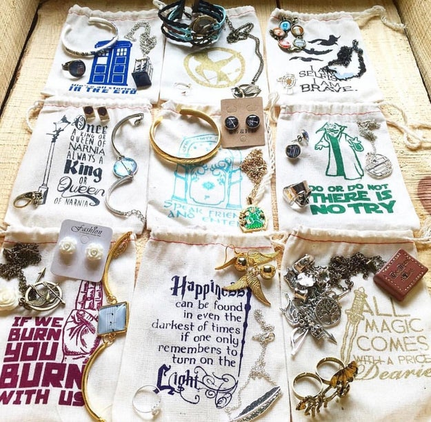 Deliveries from Fandom of the Month Club include 3-4 curated pieces of magical fandom jewelry from everyone's favorite film series.