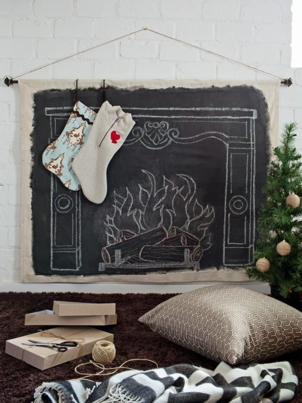 All you need is some canvas, chalkboard paint, and a little imagination. Get the full list of supplies and the tutorial here.
