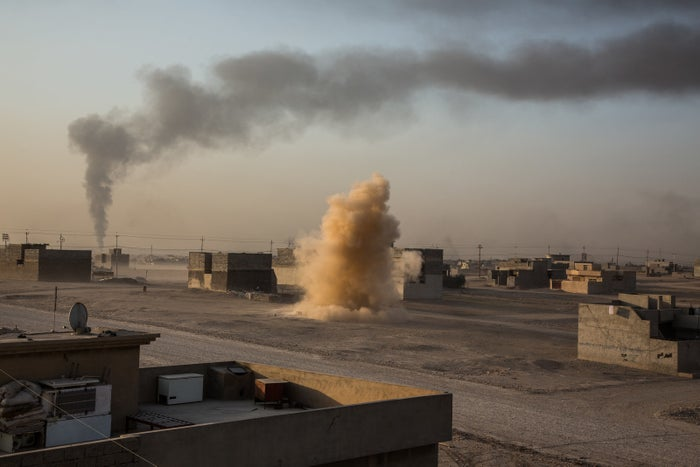 A mortar fired by ISIS lands close to where a JTAC team is based.