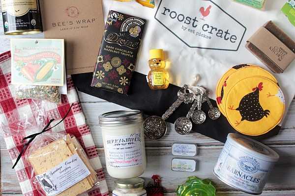 Roost Crate allows you to get monthly farmers market goodies without stepping foot into a farmers market.