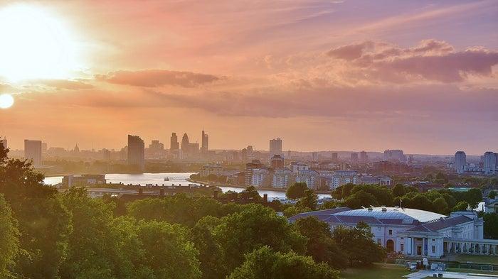 London sky line from Greenwich.