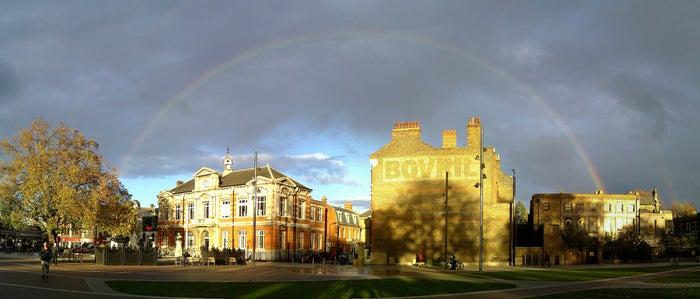 Rainbow in Brixton.